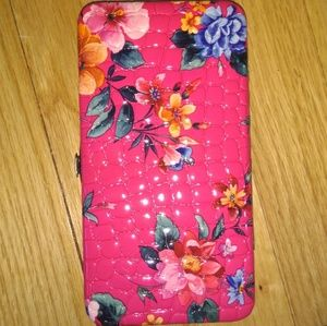Handbags - Pink floral Gator Style wallet